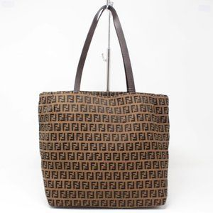 FENDI Brown Canvas Large Handbag